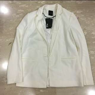 New Look White Textured Blazer