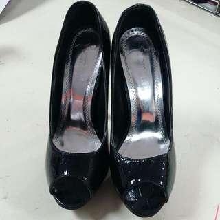 亮面高跟涼鞋 尺寸:38