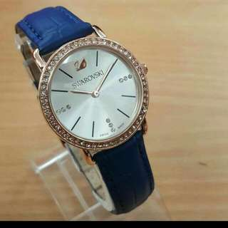Latest SWAROVSKI Blue Leather Ladies Watch