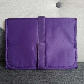 [包平郵]Kanebo 全新紫色連掛鈎化妝袋