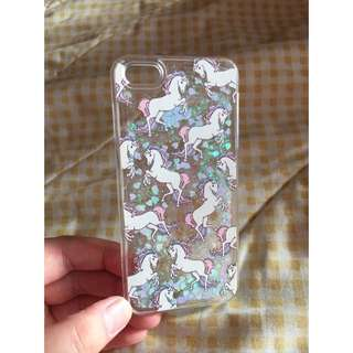 Unicorn With Glitter Case For Iphone 5/5s