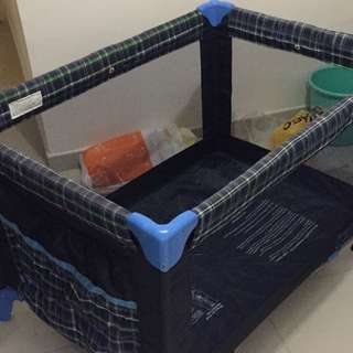 Foldable Baby Crib Cot Bed 旅行嬰兒BB幼童摺床