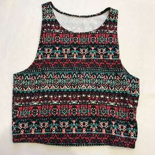F21 Aztec Crop Top