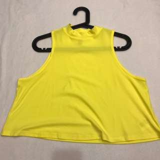 H&M Yellow high neck Top