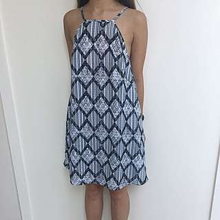 the fifth High Neck Shift Pattern Dress AU XXS