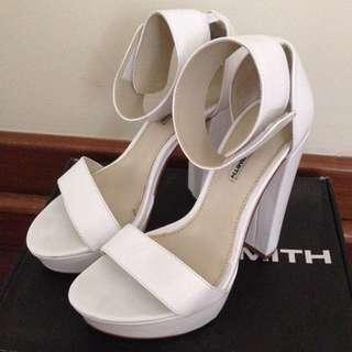Windsor Smith Malibu white heels