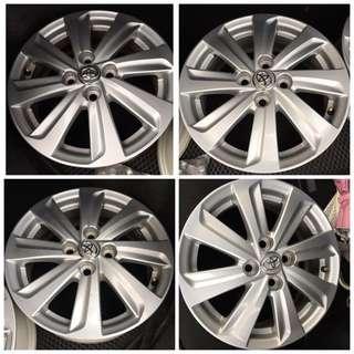 賣 New Yaris Vios 原廠鋁圈 含螺帽/一組5500(Mazda2 Swift Colt)