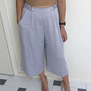 Missguided Grey Satin D-ring Culottes AU 6