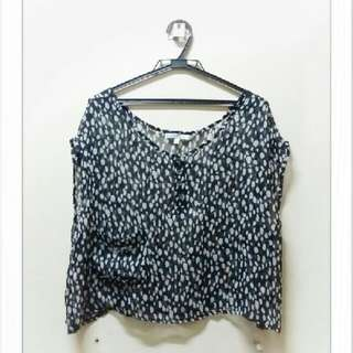 Cecico Printed Cover Up Blouse