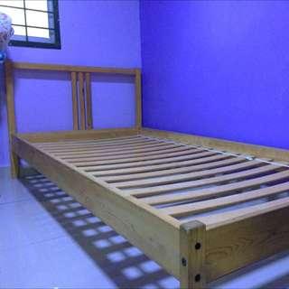 IKEA Single Bed Frame Wood