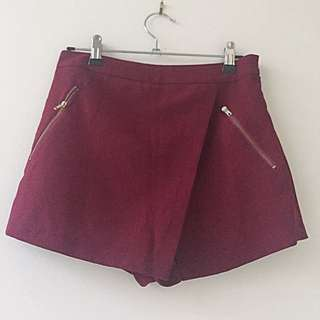 New Look Wine Red Skort AU 6-8