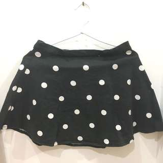 Divided H&m Polkadot Skater Skirt