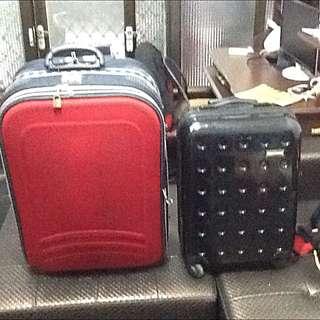 26寸硬殼布面名牌行李箱#運費我來付