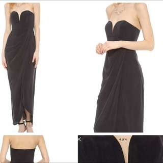 Zimmerman Strapless Drape Maxi Maxi Dress 0/6/8 Rrp $600