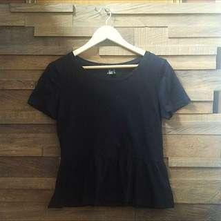 😍 Forever 21 Peplum Cotton Shirt S