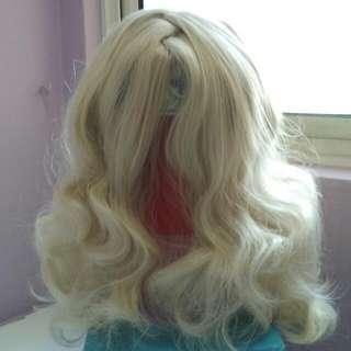 Short Curly Harajuku Platinum Blonde Wig (50cm)