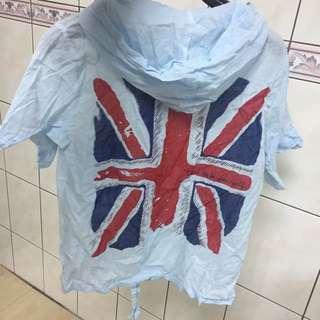 大出清-英國國旗罩衫