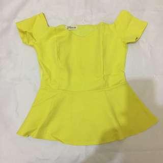 Yellow Sabrina Top