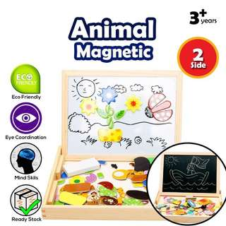 Animal Farm Magnetic With Double Sided Drawing Board