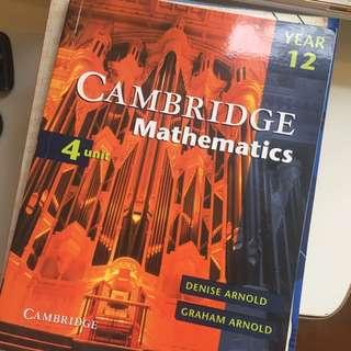 Cambridge 4u Maths BRAND NEW