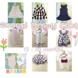 Preloved Baby Clothes