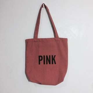 🚚 豆沙暗粉Pink帆布袋 #轉轉來交換