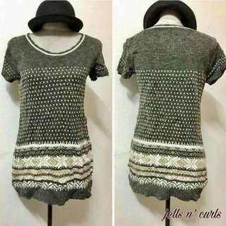Knit Long Blouse