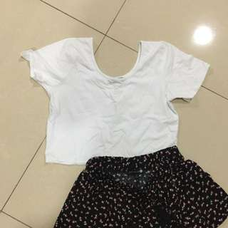 plain cropped top