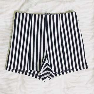 Forever21 Striped High-waisted Shorts