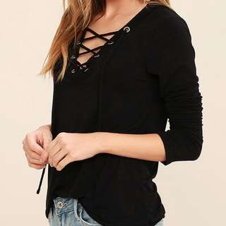 RM19⬇️ REDUCED Pure Hype Lace Up Top