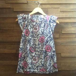 😍 H&M Floral Frill Summer Blouse S/M