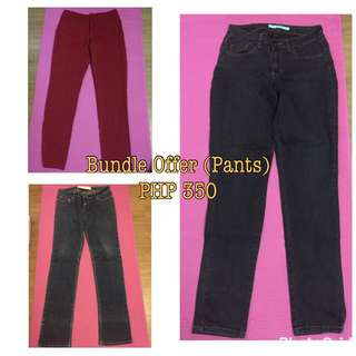 2 Maong Jeans and 1 Office Pants