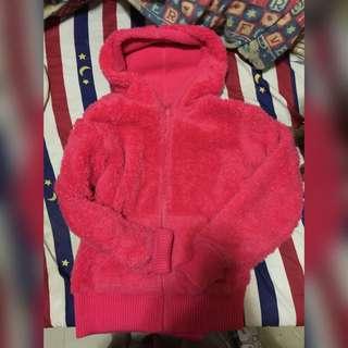 粉紅色毛毛外套