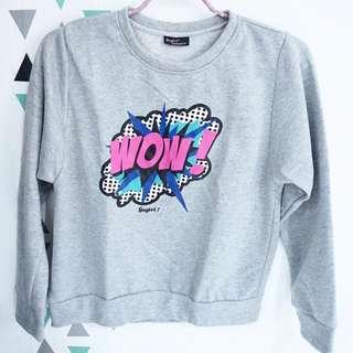 Grey Sweater - Sweater Abu-abu