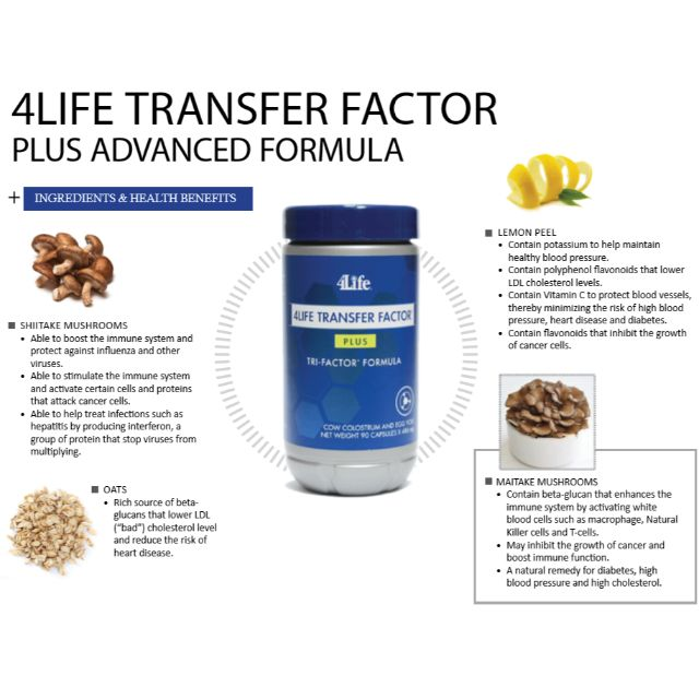 4Life® Transfer Factor Plus® Tri-Factor® Formula | Health / Dietary Supplement
