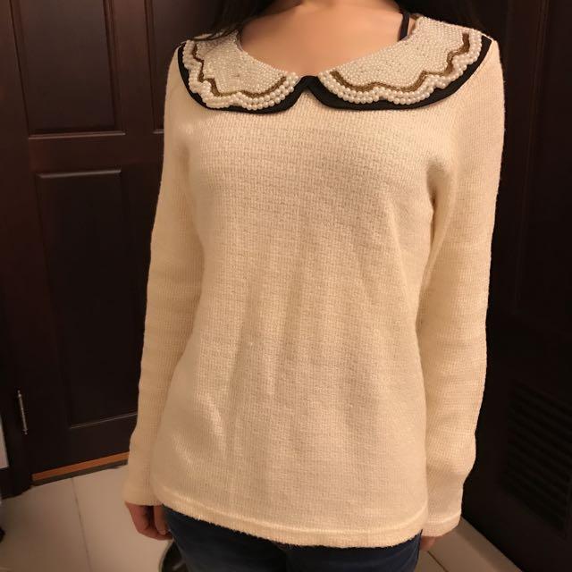 韓版超好看氣質珍珠上衣瘋狂下殺百元價❤