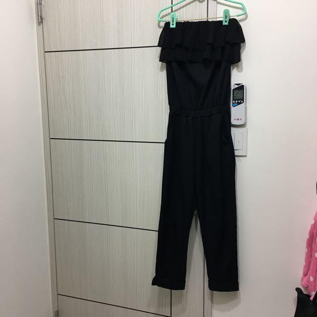 韓版平口連身褲