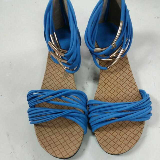寶藍色涼鞋 尺寸:39
