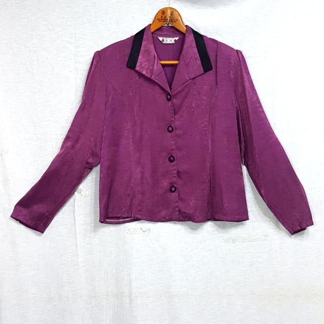【超狂小阿姨】紫色復古高雅外套 #運費我來出