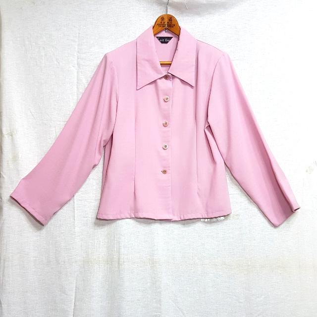 【超狂小阿姨】高雅粉紅襯衫外套 #運費我來出