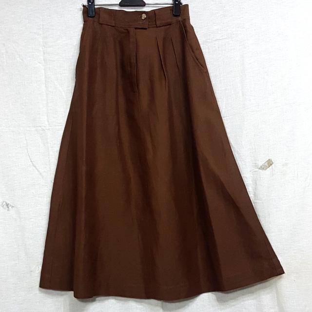 【超狂小阿姨】咖啡色長裙