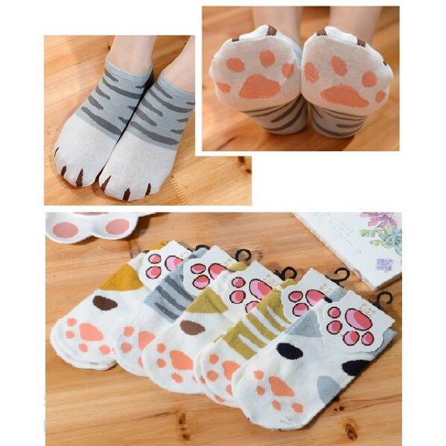 貓爪船襪 貓掌船襪