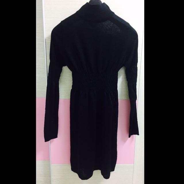 羊毛 黑色 長板上衣 (全新) Size 9