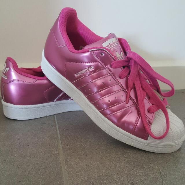 Adidas Metallic Pink Superstar
