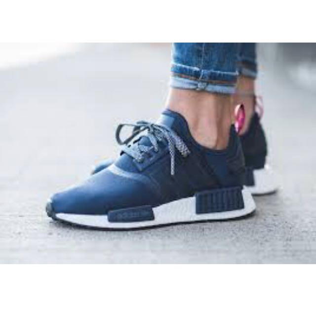 54777dba8a42a Adidas NMD Nomad R1 S76011 RUNNER boost Collegiate Navy blue Red NMD Women ( Women sz US9.5 UK8)
