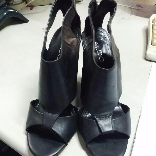 ALDO真皮粗高跟涼鞋 尺寸:38