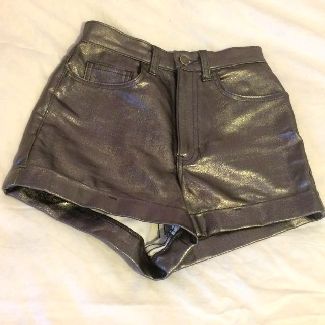 American Apparel Metallic Shorts