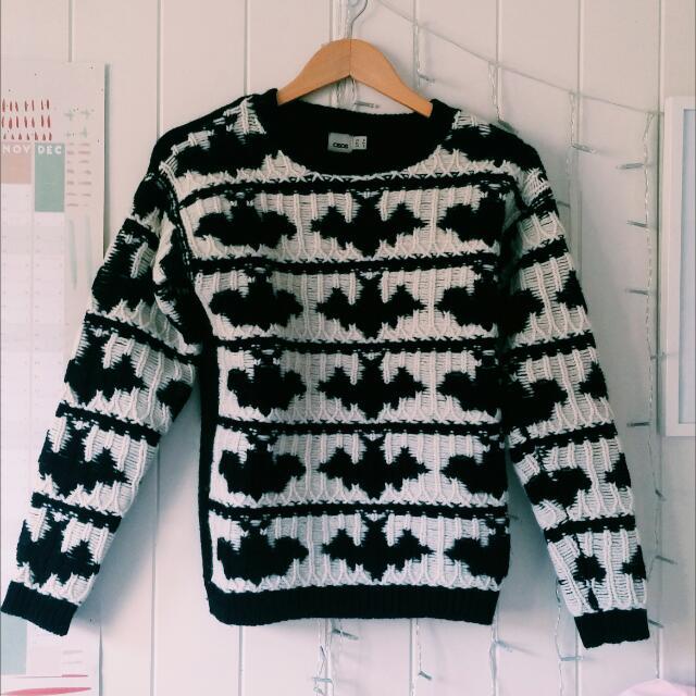 Asos Wool Bat Sweater
