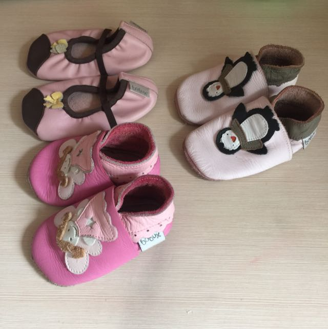 assorted baby shoes by Bobux USA