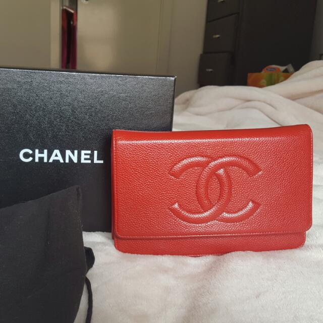 Authentic Chanel Wallet On Chain (WOC)